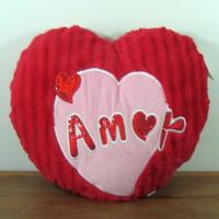 Almofada de coração personalizada