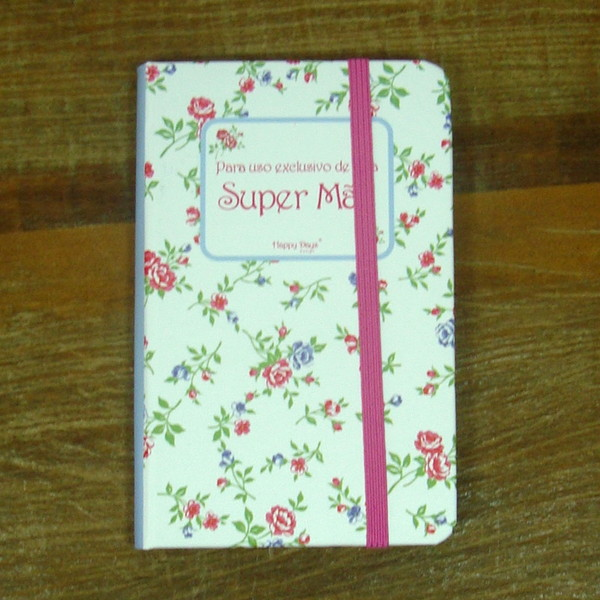 Caderneta happy days mae caderno
