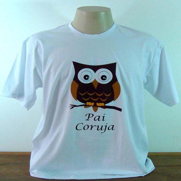 Camiseta pai coruja p camiseta