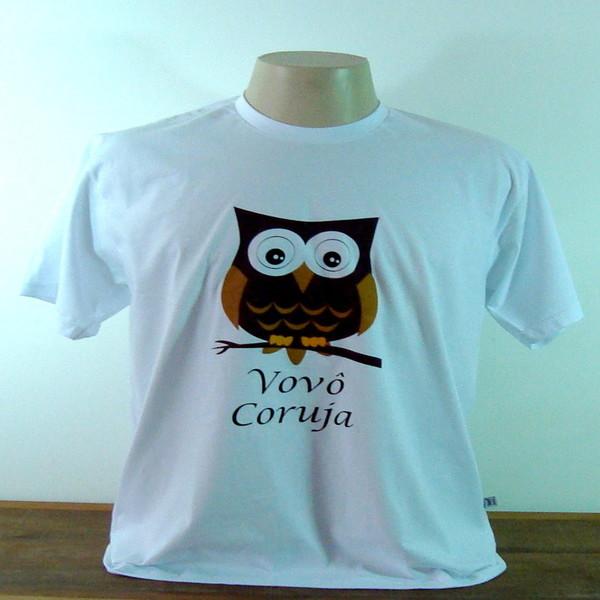 Camiseta vovo coruja m camiseta