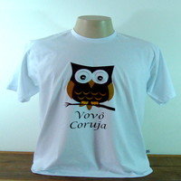 Camiseta Vovô coruja (M)
