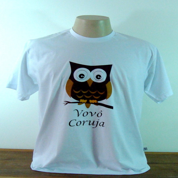Camiseta vovo coruja p camiseta