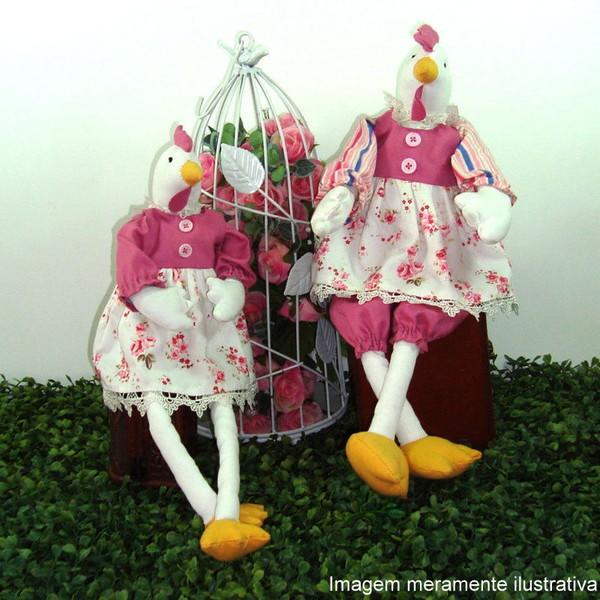 Galinha cromus de vestido estampado m galinha