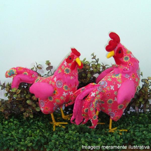Galinha floral rosa galinha