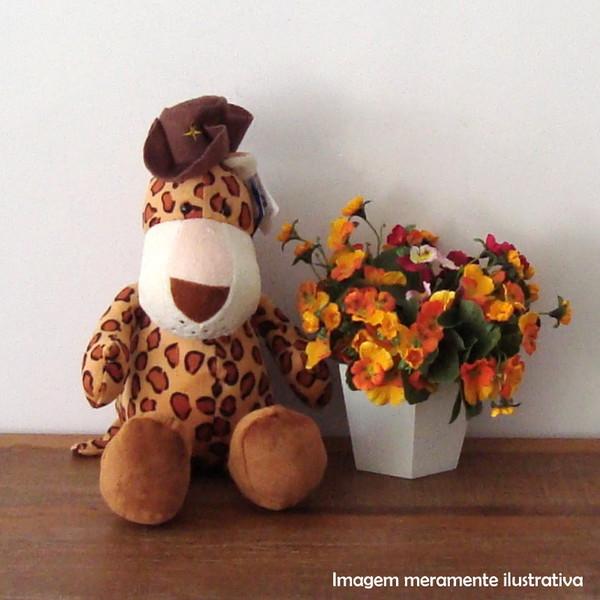 Girafinha marrom de pelucia pelucia