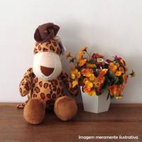 Girafinha marrom de pelúcia