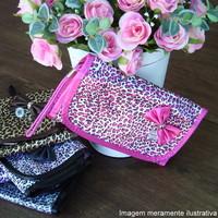 Necessaire Rubys onça preta e rosa