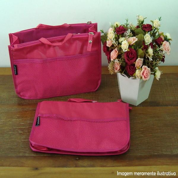 Organizador de bolsa pink com divisorias maleta