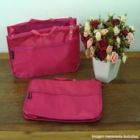 Organizador de bolsa pink com divisórias