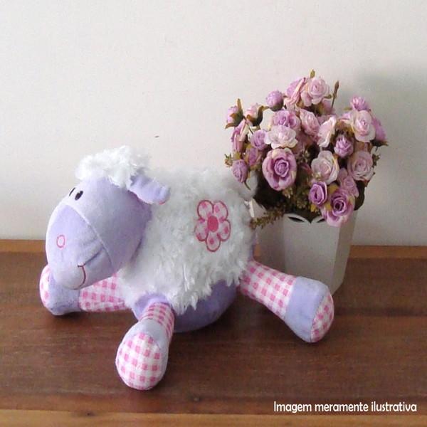 Ovelha florzinha deitada brinquedo