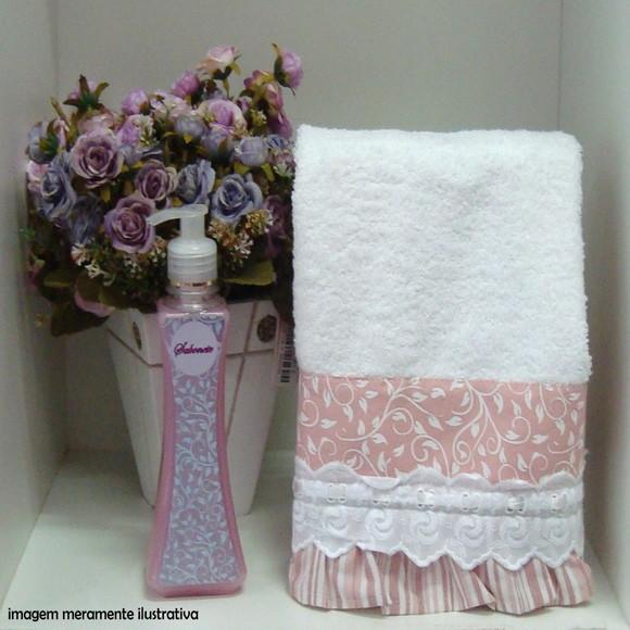 Toalha lav branca com sab liquido toalha lavabo com sabonete liquido