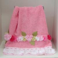 Toalha Rosto rosa