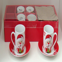 Jogo de xicará  Papai Noel café.