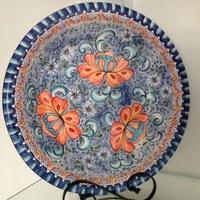 Bacia estilo português de cerâmica