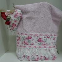 toalha lavabo com sachê