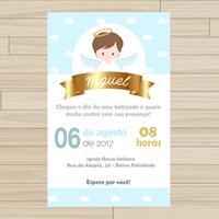 Convite digital Batizado - Menino
