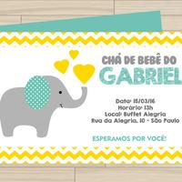 Convite digital Elefantinho