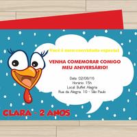 Convite digital Galinha Pintadinh