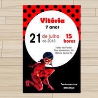 Convite digital Miraculous Ladybug