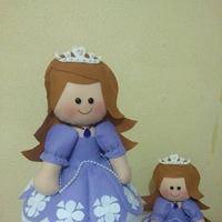 2 Sophias - boneca para decorar mesa principal