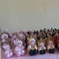 Bonecas de pano tema jardim encantado
