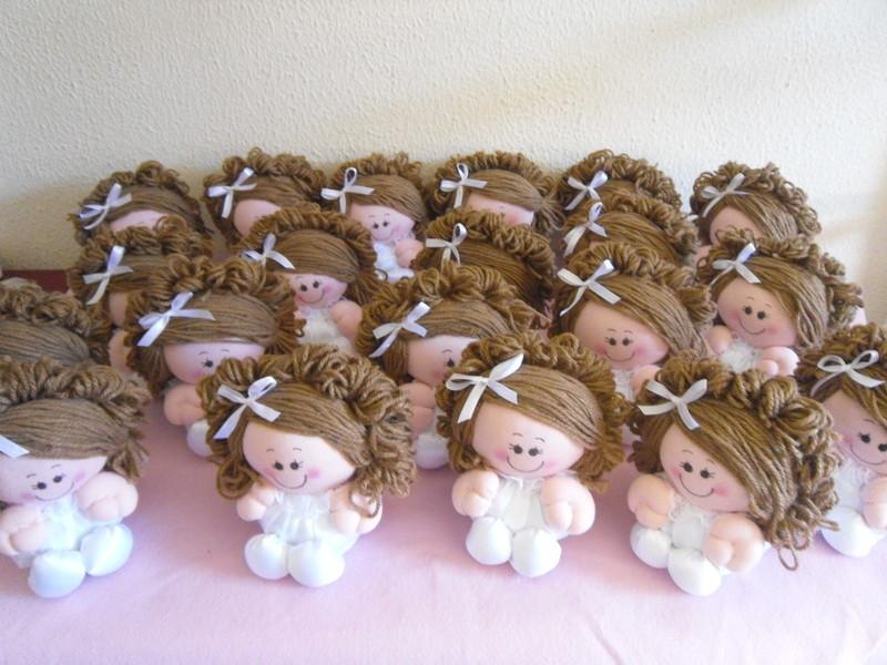 Bonecas anjinhos de fuxico lembrancinhas