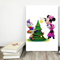 "Placa decorativa MDF ""Natal Disney"" (cód. 3619)"