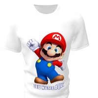 Camiseta Camisa Blusa Personalizada Mario Bros