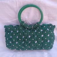 Bolsa de fuxico verde