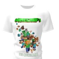 Camiseta Camisa Blusa Personalizada Minecraft
