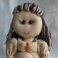 Boneca gravida cabelo colorido