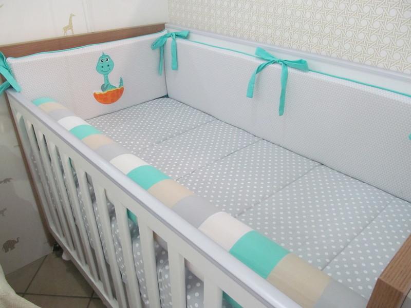 Kit berco 9 pecas dino baby gestante