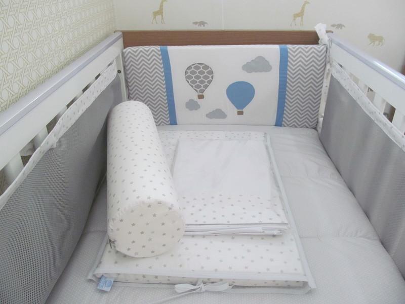 Kit de berco respiravel baloes 9 pcs respiravel