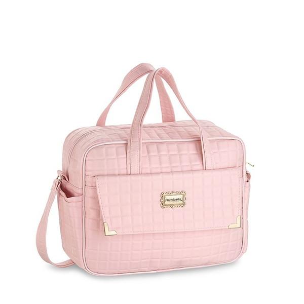 Kit bolsas 3 pecas perola rosa saida maternidade