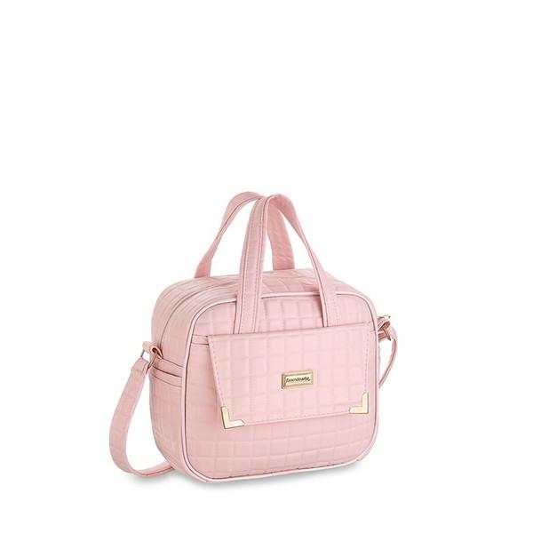 Kit bolsas 3 pecas perola rosa kit bolsa