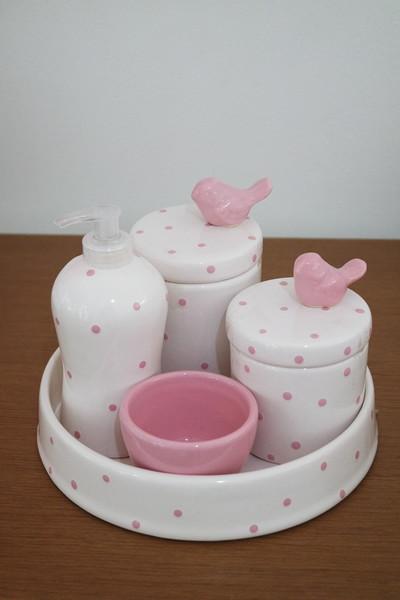 Kit de higiene em louca 5 pc passaro decoracao de quarto de bebe