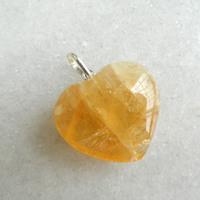 Pingente Pedra Citrino Prata 950