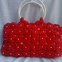 Bolsa porta bíblia de fuxico vermelho