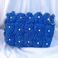 Bolsa carteira porta celular azul