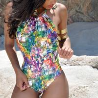 Maiô Feminino Frente Unica Com Bojo Com Estampa Digital
