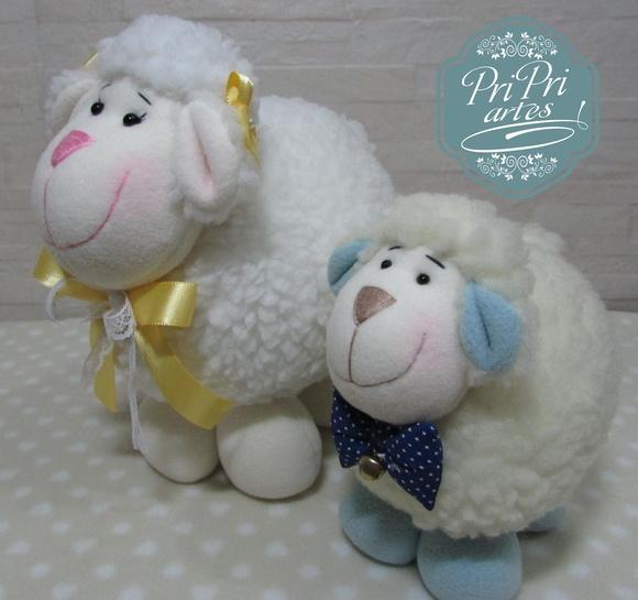 Kit cordeiro bola tamanho m e p ovelha bola