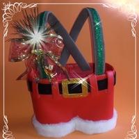 Porta-Talher Calça de Noel