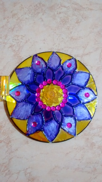 Porta incenso cd flor