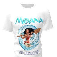 Camiseta Camisa Blusa Personalizada Disney Moana
