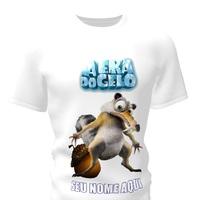 Camiseta Camisa Blusa Personalizada Era do Gelo