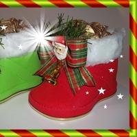Botinha cano-curto Natal