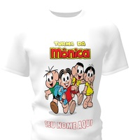 Camiseta Camisa Blusa Personalizada Turma da Mônica