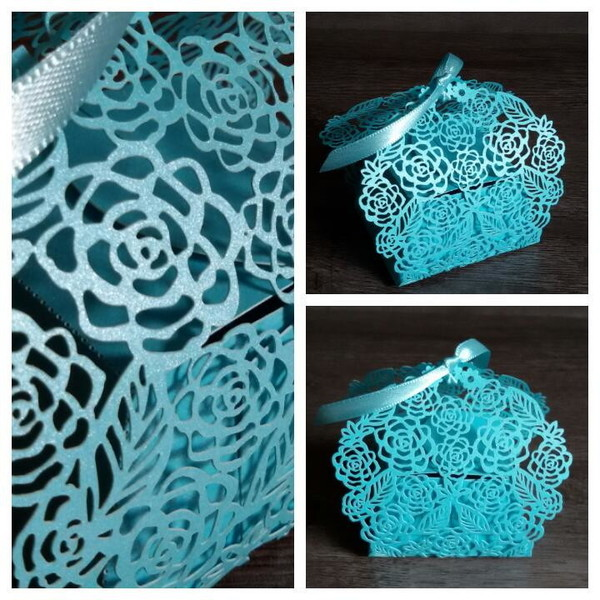 Caixinha floral azul turquesa nascimento
