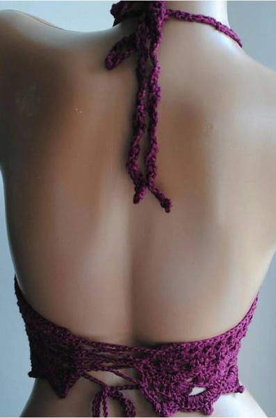 Cropped de croche roxo 2
