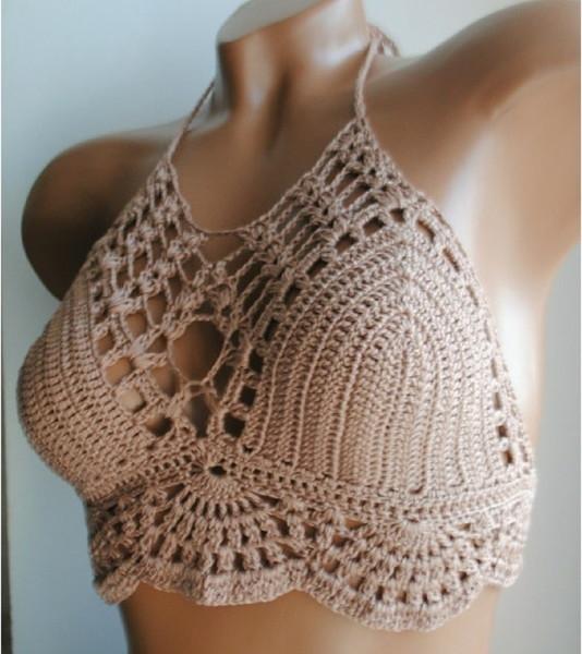 Cropped croche marrom 3